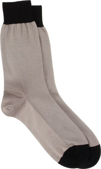 Barneys New York Pique Midcalf Socks - Lyst