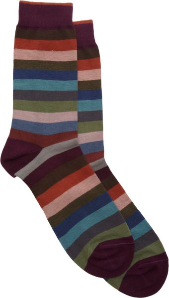 Barneys New York Bar Stripe Sock - Lyst