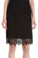 Barneys New York Sleeveless Lace Sheath Dress - Lyst