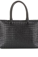Bottega Veneta Brick Intrecciato Leather Tote - Lyst