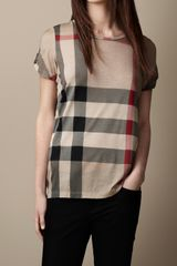 Burberry Printed Check T-shirt - Lyst