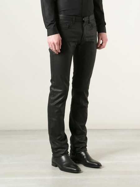 Jean Zara Homme Homme Coated Skinny Jeans