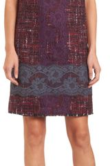 Dolce & Gabbana Lace Tweed Shift Dress - Lyst