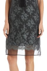 Erdem Organza Overlay Lace Shift Dress - Lyst