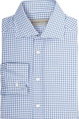 Etro Gingham Check Dress Shirt - Lyst