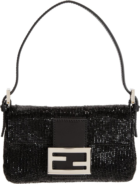 fe423da615 ... cheap fendi beaded mini baguette bag in black lyst d22f5 8827a