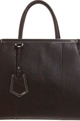 Fendi Python Small Two Jours Tote - Lyst