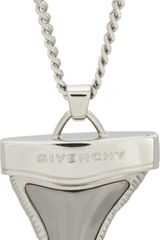 Givenchy Palladium Ruthenium Shark Tooth Pendant Necklace - Lyst