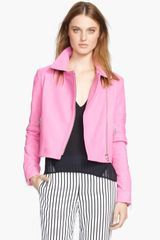 J Brand Ready-to-wear Aiah Leather Crop Jacket - Lyst