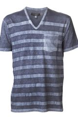 John Varvatos Striped Chest Pocket Tshirt - Lyst