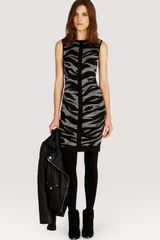 Karen Millen Dress Zebra Jacquard Knit - Lyst