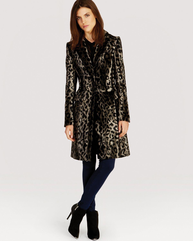 1d2cdbebea7d Karen Millen Ultimate Leopard Print Coat - Lyst