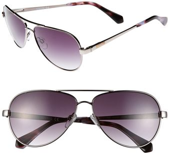 Kenneth Cole Reaction 59mm Aviator Sunglasses - Lyst