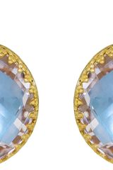 Larkspur & Hawk Topaz Olivia Button Earrings - Lyst