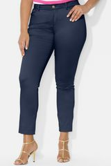 Lauren by Ralph Lauren Slim Ankle Pants - Lyst