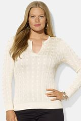 Lauren by Ralph Lauren Cable Knit Sweater - Lyst