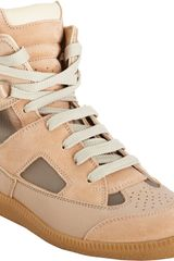 Maison Martin Margiela Cutout High Top Sneaker - Lyst