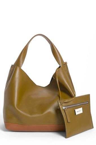 Marni Slouchy Lambskin Leather Hobo - Lyst