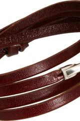 Miansai Leather Bind Wrap Bracelet - Lyst
