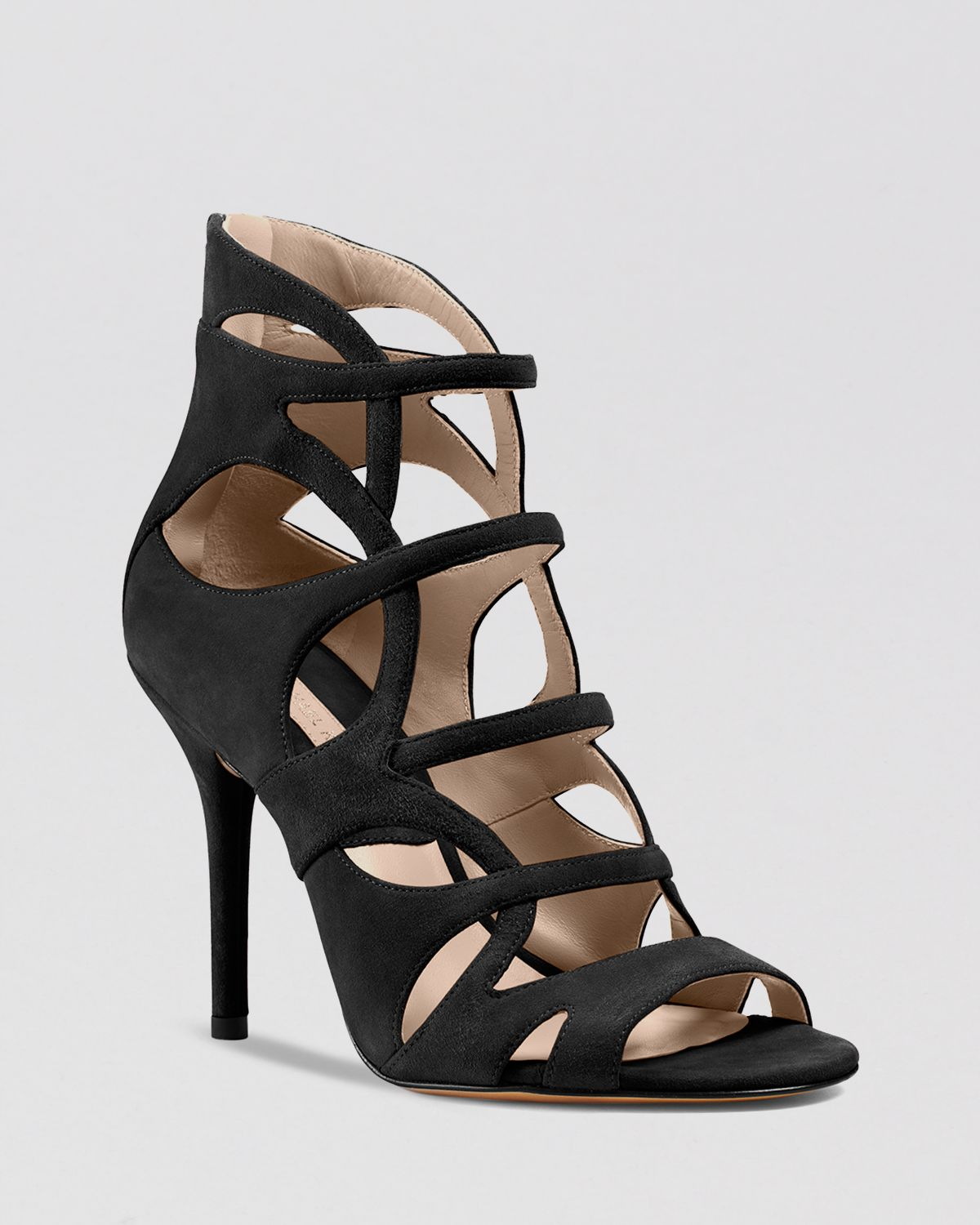 Michael kors Caged Sandals Casey Strappy High Heel in Black  Lyst