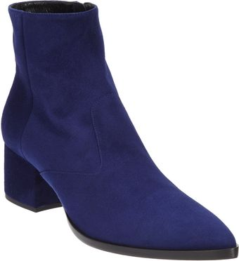 Miu Miu Pointed Toe Ankle Boot - Lyst