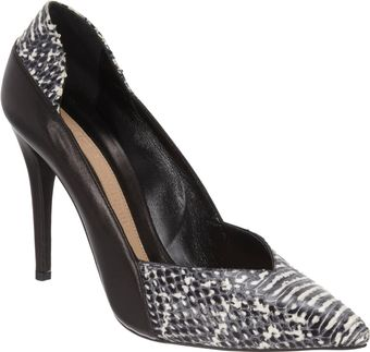 Narciso Rodriguez Snakeskinstamped Pointed Toe Pump - Lyst