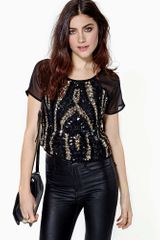 Nasty Gal Radiate Crop Tee - Lyst