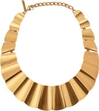 Oscar de la Renta Goldplated Bib Necklace - Lyst
