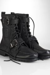 Polo Ralph Lauren Radbourne Tumbled Leather Boot - Lyst
