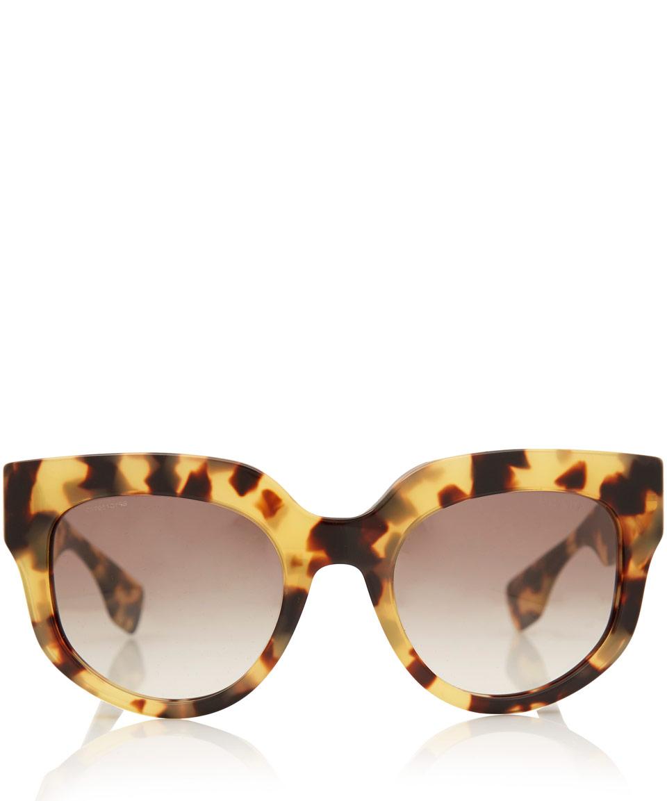 b827f1db05 Lyst - Prada Brown Camouflage Poeme Acetate Sunglasses in Brown