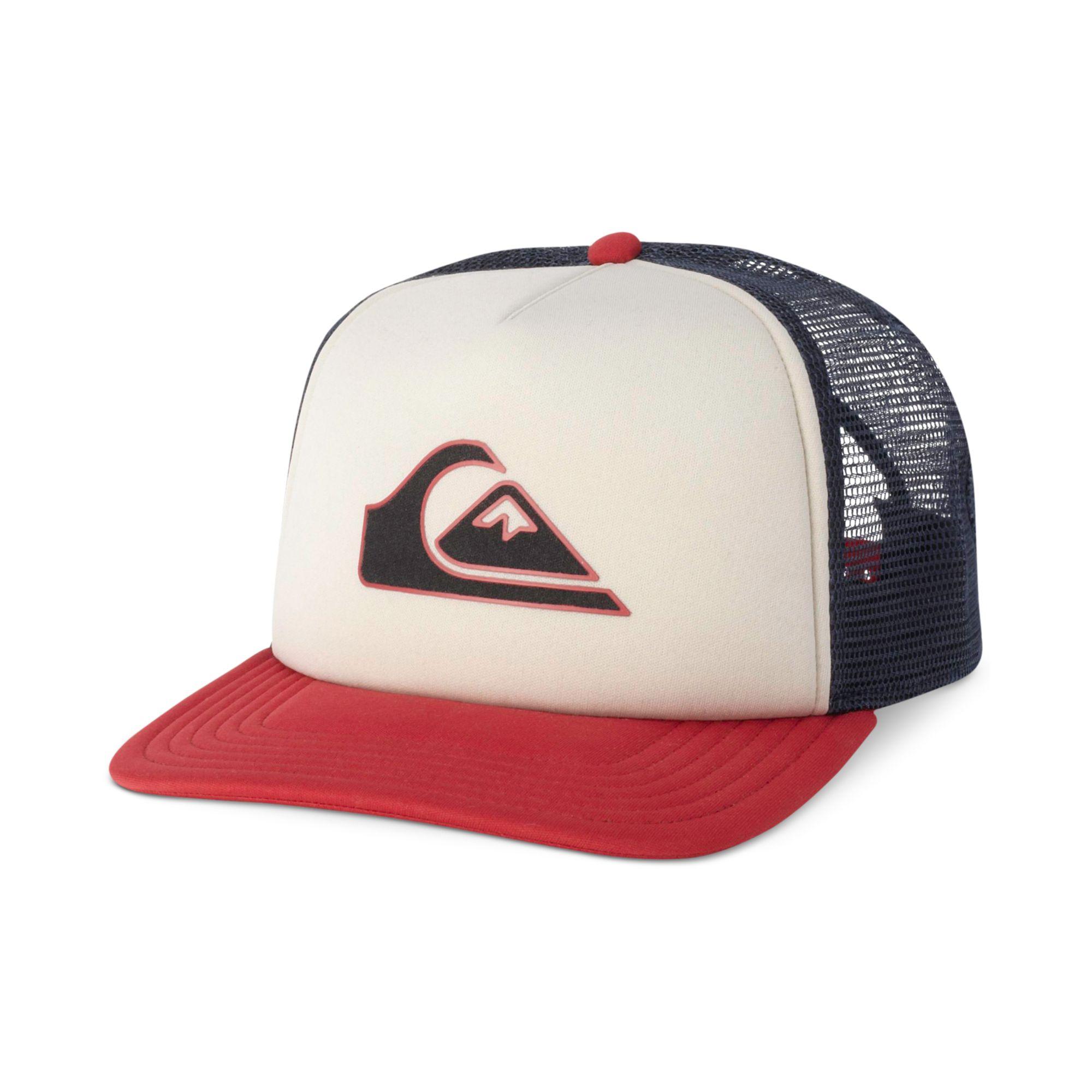011055c22f1 netherlands greece lyst quiksilver threve mesh trucker hat in white for men  c96db d47db df03a 992b3