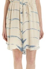 Raquel Allegra Tie Dye Striped Sleeveless Dress - Lyst