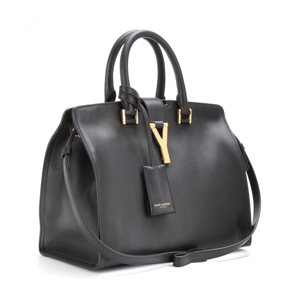 9441fa929f0e Lyst - Saint Laurent Petite Cabas Classique Y Leather Bag in Black