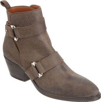 Sartore Distressed Double Strap Ankle Boot - Lyst