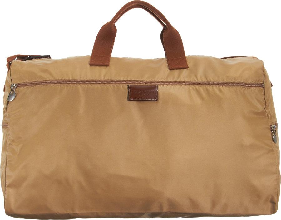 serapian packable duffel bag in brown for lyst