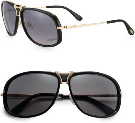 tom ford metal sunglasses in gray for men charcoal lyst. Cars Review. Best American Auto & Cars Review