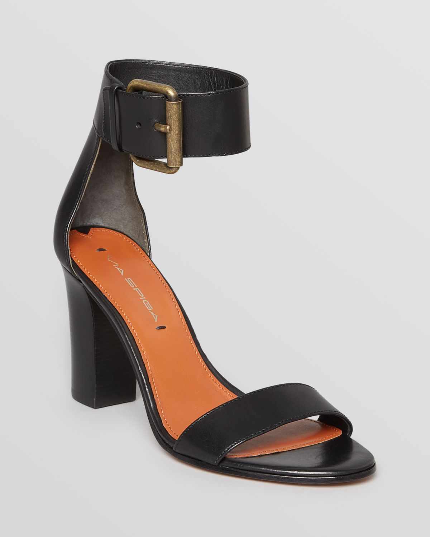 Via Spiga Snakeskin Ankle-Strap Sandals cheap sale latest IEGTpA