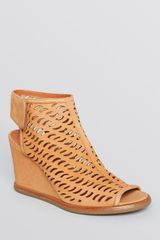 Via Spiga Open Toe Wedge Sandals Delsy Cutout - Lyst