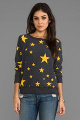 Wildfox Couture Disco Star Baggy Beach Jumper in Charcoal - Lyst