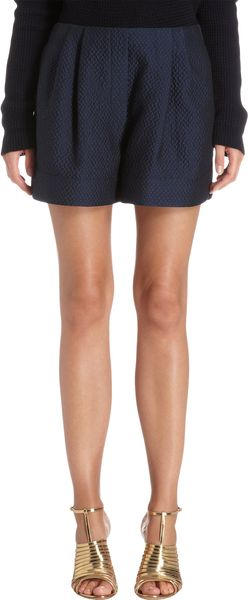 3.1 Phillip Lim Cloque Shorts - Lyst
