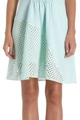3.1 Phillip Lim Laser Cut Perforated A-Line Dress - Lyst