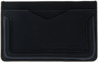 Alexander McQueen Black Leather Heroic Card Holder - Lyst