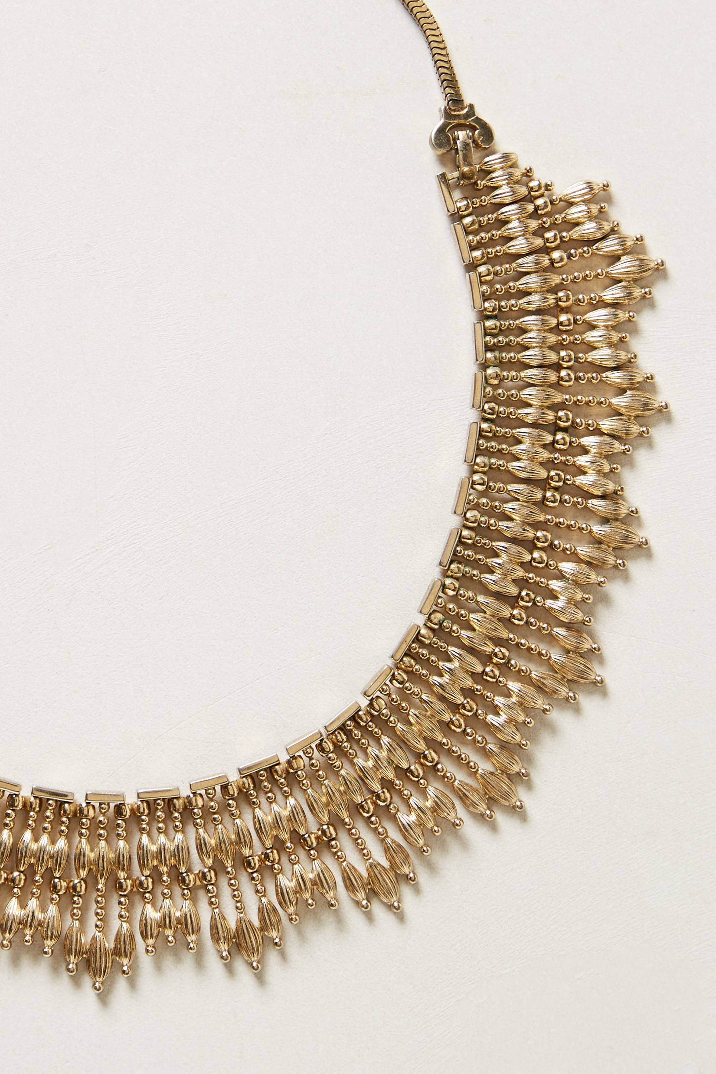 Lyst Anthropologie Vintage Monet Collar Necklace in Metallic