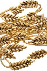 Aurelie Bidermann Gold Wheat Cuff - Lyst