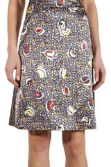 Balenciaga Printed Square Neck Dress - Lyst