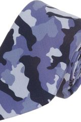 Barneys New York Camo Print Tie - Lyst