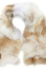 Barneys New York Fur Patchwork Scarf - Lyst