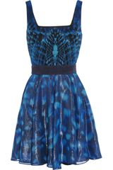 Capitol Couture By Trish Summerville Mockingjay Printed Silk Chiffon Dress - Lyst