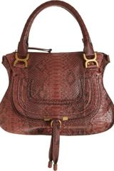 Chloé Python Marcie Medium Satchel with Strap - Lyst