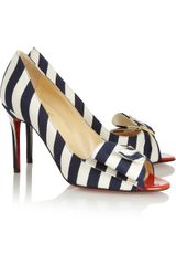 Christian Louboutin Just Soon 85 Striped Canvas Pumps - Lyst